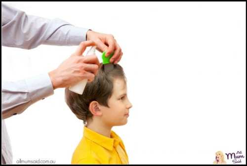 Head Lice Treatments Linked To Behaviour | dad checking for head lice