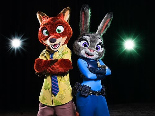 Zootopia characters disney on ice feature