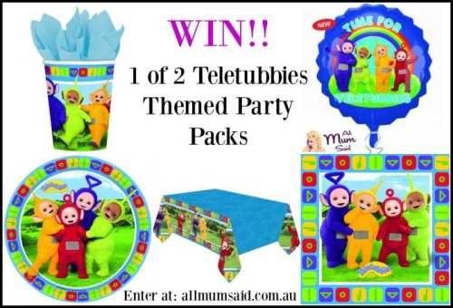 win a teletubbies themed party