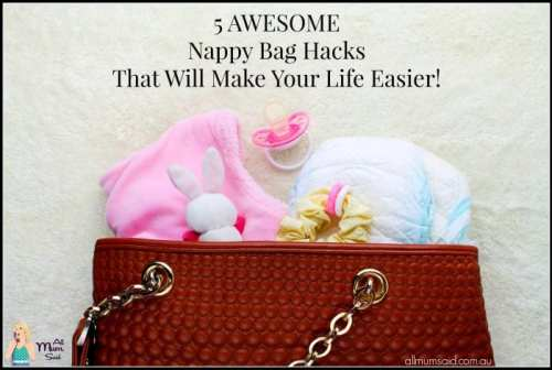 Nappy bag filled with baby items | nappy bag hacks that will make your life easier