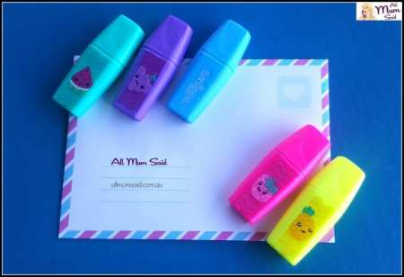 Smiggle scented highlighters