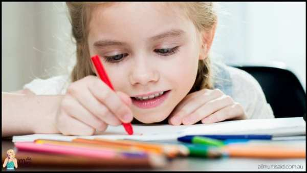 Prepare your child for school | girl writing