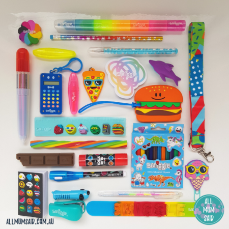 smiggle advent calendar contents