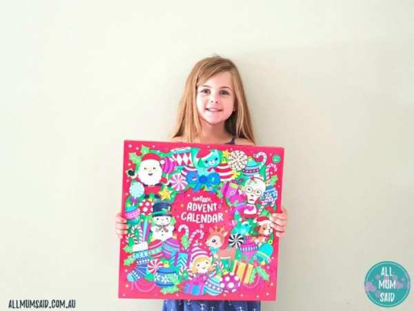 smiggle advent calendar with happy kid
