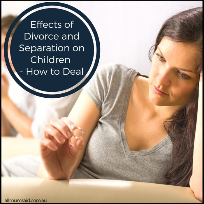 Effects of Divorce and Separation on Children – How to Deal