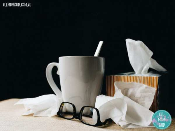 stuff you need when sick | cup of tea and tissues