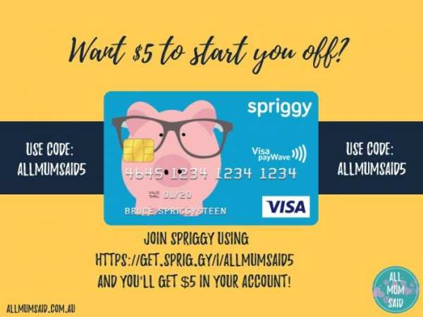 Spriggy referral code $5