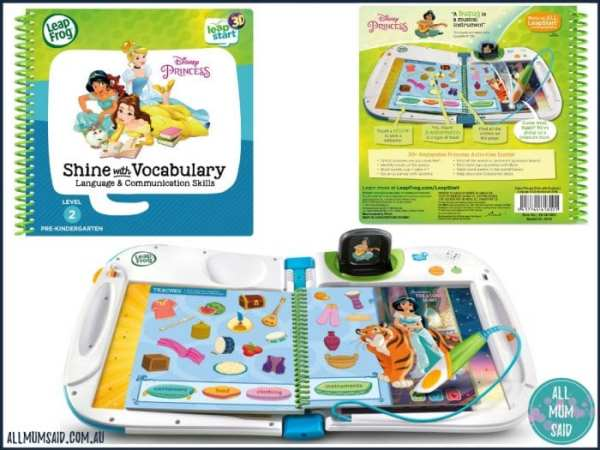 LeapFrog LeapStart 3D - Disney Princess Shine with Vocabulary book