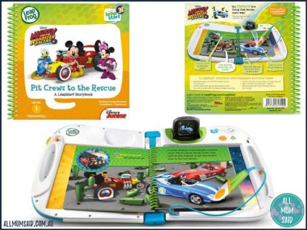 LeapFrog LeapStart 3D Mickey and the Roadster Racers Pit Crews to the Rescue book