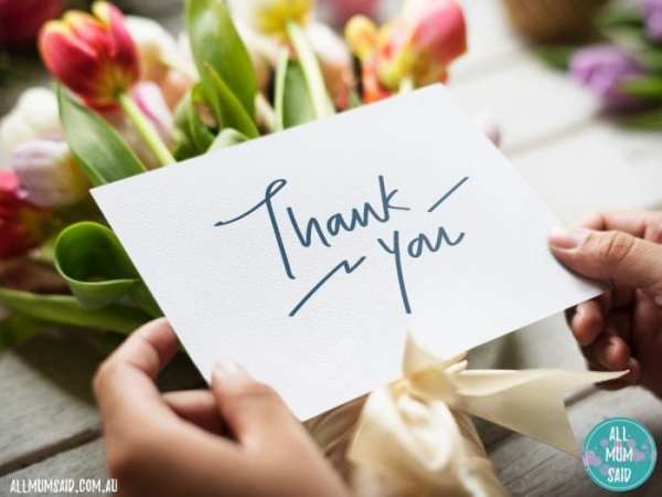 flowers and thank you card - Teacher Gift Ideas and Presents