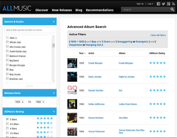 Advanced Album Search Is Here