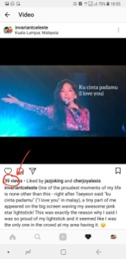 39 views on my instagram video about my sweet little couple moment with Taenggu at the concert in KL