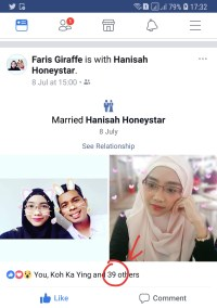 Another Facebook friend (knew him from my university days) is getting married!