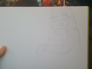 Birthday Drawing for Taenggu - WIP