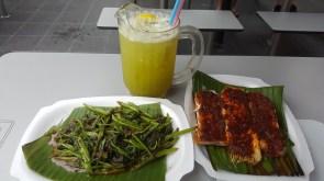 Sambal Kang Kong, Barbequed Stingray and Sugarcane Lemon Drink