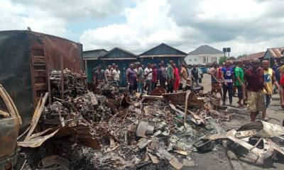 Bayelsa Mechanic Village Market Fire