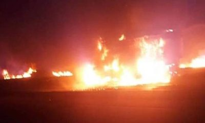 GTB on fire in lekki tollgate