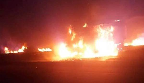 GTB on fire in lekki tollgate