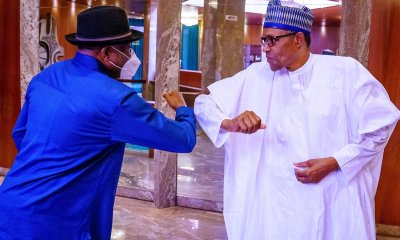 Goodluck Jonathan and Buhari