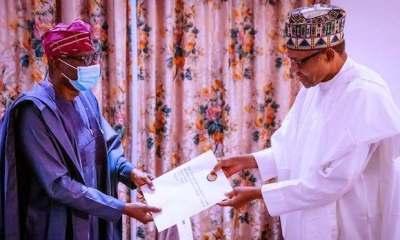 Sanwo Olu Buhari in Aso Rock