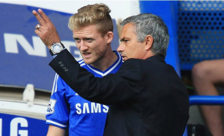 Andre Schurrle and Jose Mourinho