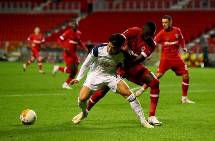 Bale, Alli miss chance as Tottenham bows to Antwerp - Son Heung-Min
