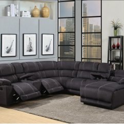Baseball Leather Sofa Cinema London Hampstead Black Bonded Motion Group With Heavy Contrast