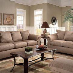 Sofa Microfiber Fabric Tiny House Sleeper Camel Large Scale Modern Style Loveseat All