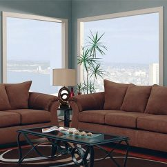 Microfiber Fabric Sofa Sectional Sofas San Antonio Chocolate Large Scale Modern Style Loveseat