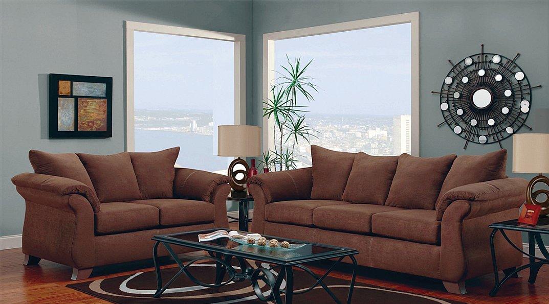 sofa microfiber fabric long leather reclining chocolate large scale modern style loveseat u314