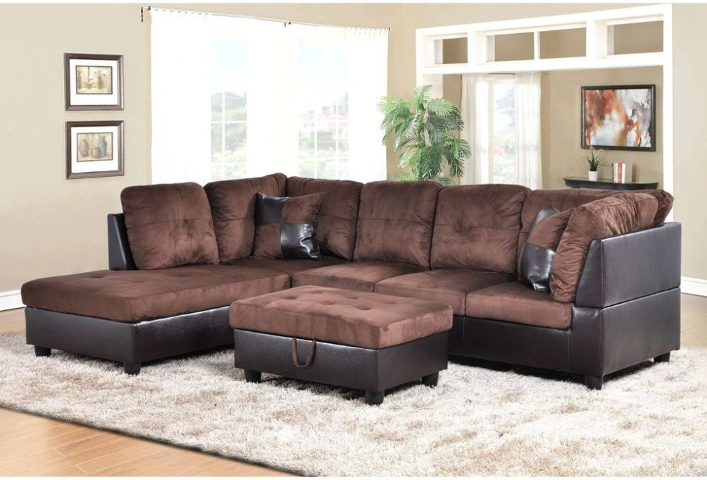 sectional sofas microfiber radley sofa macy s f107a – dark brown & faux leather ...