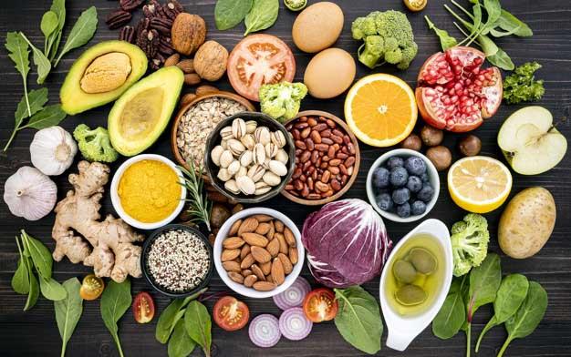 أغذية غنية بالبروتين والألياف