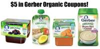 $5 in New Gerber Organic Baby Food Coupons  All Natural ...
