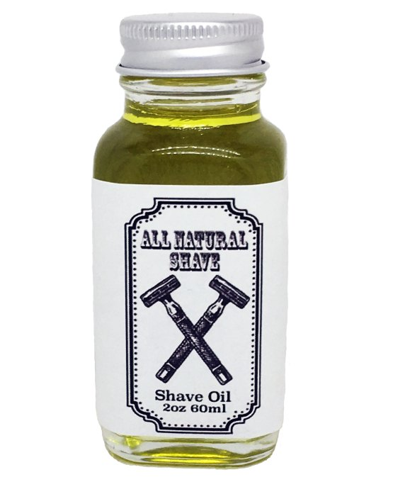 Shave oil 2 ounces in glass