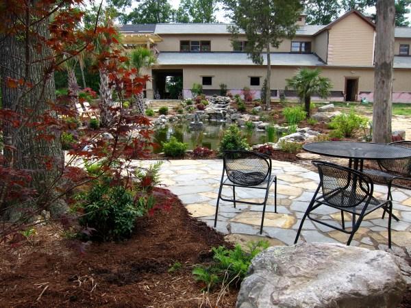 backyard patio design natural