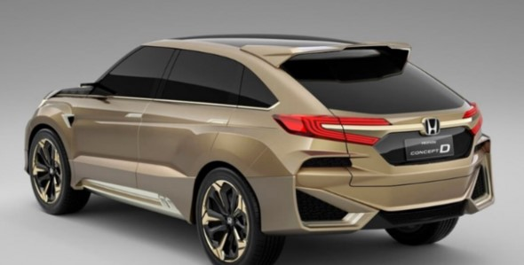 2021 Honda Crosstour View from the backside