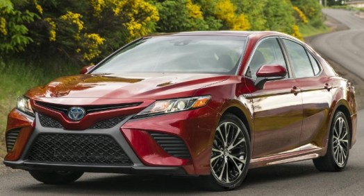 2021 Toyota Camry with new exterior design