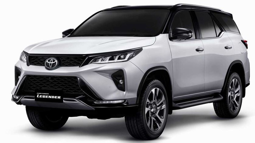 2021 Toyota Fortuner with new exterior design