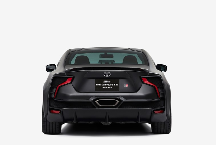 2021 Toyota GR HV Sports view from the backside