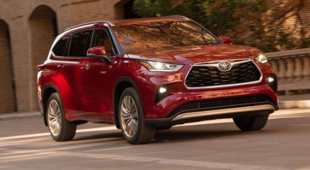 2022 ToyotaHighlander with new exterior layout