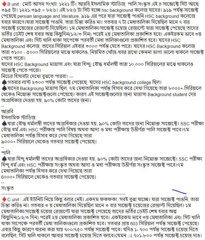 cu admission test result 2019 2