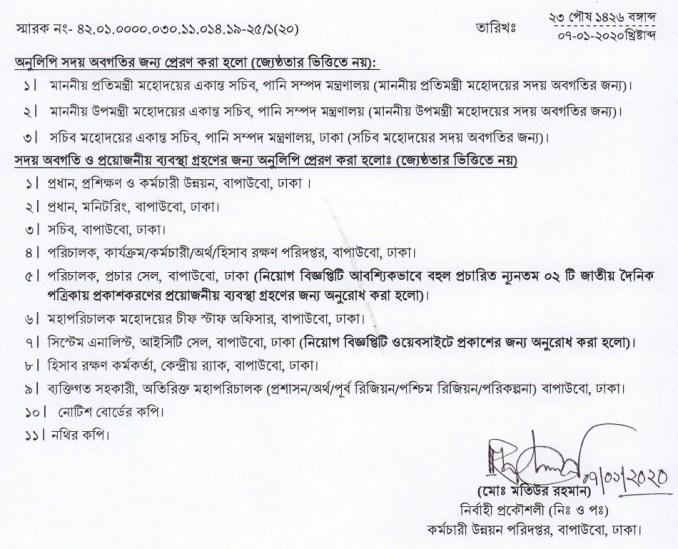 BWDB New Job Circular 2020 Pani Unnoyon Board Chakri Online Application Apply