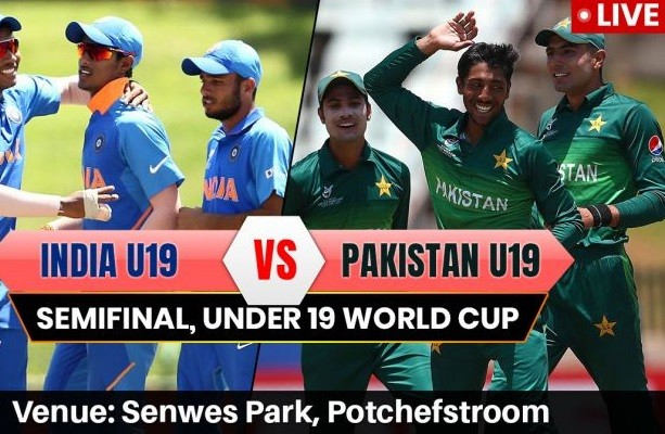 India vs Pakistan U19 Live Streaming Semi-Final 1 ICC World CUP 2020 Under 19 Super League Live Stream, Score Update