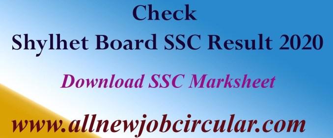 Sylhet Board of Education SSC Exam 2020 Result