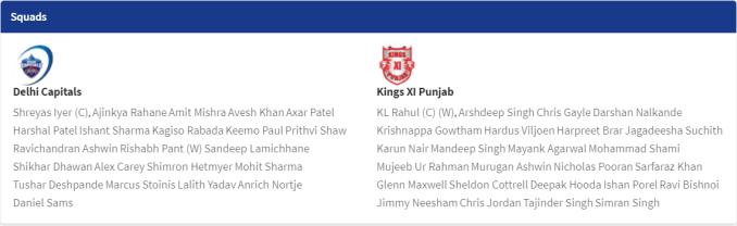 today ipl match details 2020