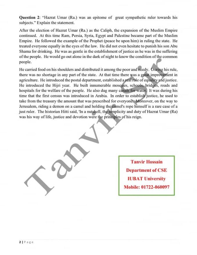 Class 6 English Version Assignment
