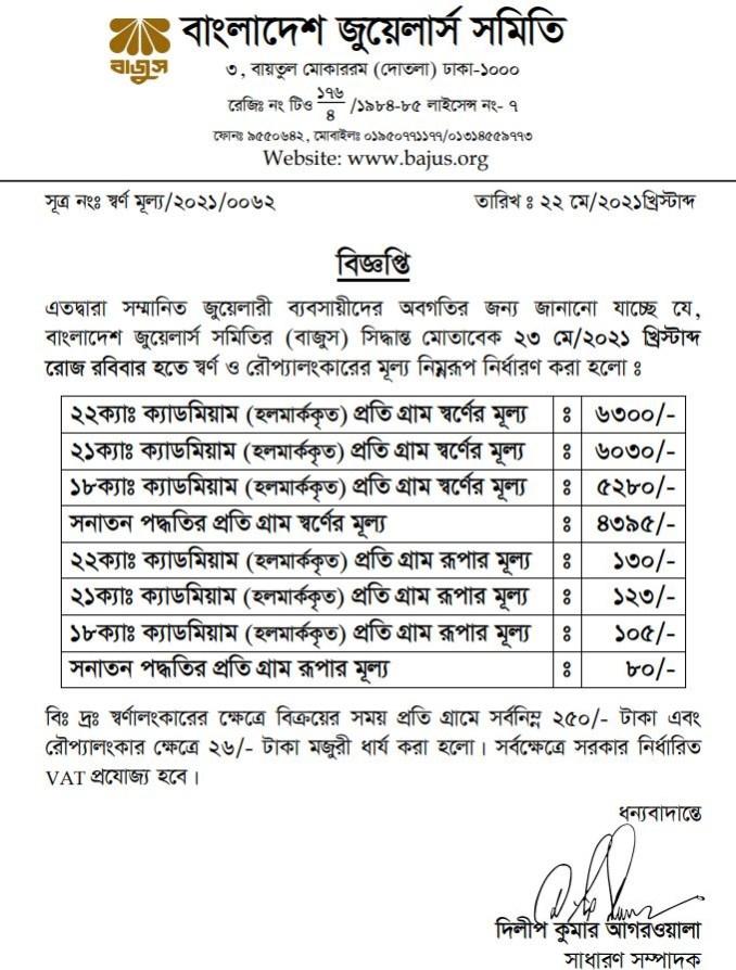 Gold Price in Bangladesh Today Per Vori 2021 (BD 22K সোনার দাম) - All New  Job Circular