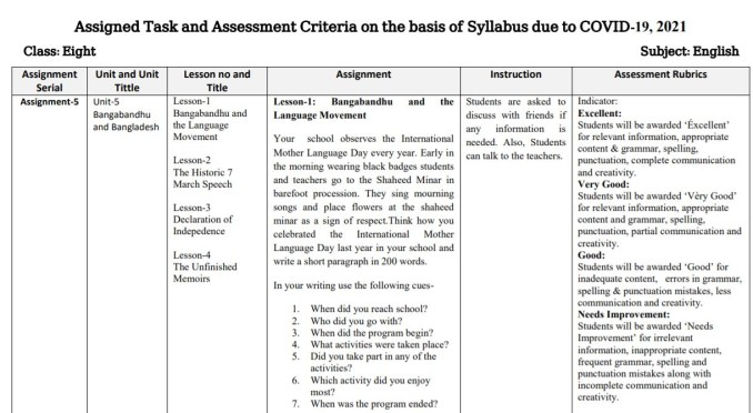 class 8 english assignment 16th week 2021
