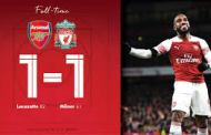 Premier League: Arsenal hold Liverpool to 1-1 draw to maintain unbeaten run + All Results for Saturday