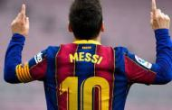 Lionel Messi agrees to stay on reduced pay.